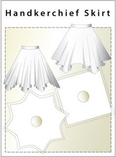 Gonne quadrati I have been looking for a pattern for a handkerchief skirt – Eureka!!