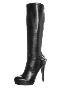 Hohe Lederstiefel mit viel Chic! Mai Piu Senza High Heel Stiefel - nero für 179,95 € (30.09.15) versandkostenfrei bei Zalando bestellen.