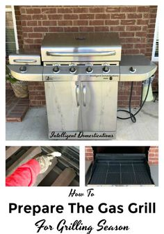 How To Prepare The Gas Grill For Grilling Season. How to clean and prepare the gas grill for grilling season. How to clean the gas grill. Photo of gas grill. Household Cleaning Tips, Cleaning Hacks, Ribs On Grill, Spring Cleaning, Grilling Recipes, Homemaking, Summer Recipes, Cooking Tips, Outdoor Living