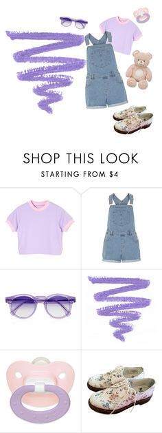 """Purple DD/LG💜"" by xcchelseaax ❤ liked on Polyvore featuring Dorothy Perkins, Illesteva and Dr. Martens"