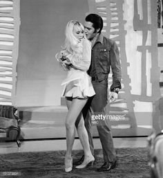 Elvis Presley & Susan Henning in the Bordello Sequence of the Elvis NBC TV special taped June 27, 1968 in Burbank Studios, CA. First aired December 3, 1968.