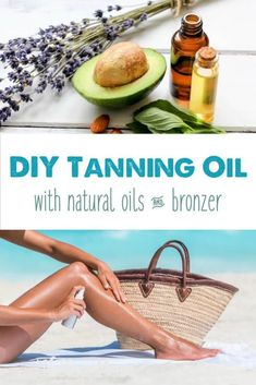 DIY Sandalwood Tanning Oil This natural tanning oil uses oils with a natural SPF like olive, avocado, raspberry seed and carrot seed with natural bronzers. Tanning Oil Homemade, Diy Tanning Oil, Homemade Tan, Natural Tanning Oil, Tanning Tips, Natural Sunscreen, Homemade Beauty, Doterra, Sun Tan Oil