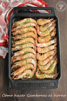 Como hacer gambones al horno (16) Food Concept, Cooking Recipes, Healthy Recipes, Picnic Foods, Recipes From Heaven, Shrimp Recipes, Fish And Seafood, International Recipes, Original Recipe