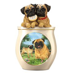 Chihuahua Cookie Jar Endearing Cookie Capers Chihuahua Cookie Jar Puppy Dog Treat Ceramic Jar Linda Decorating Inspiration