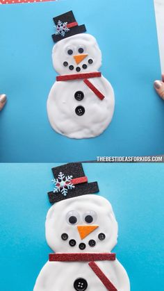 Puffy Paint Snowman - a fun snowman winter craft for kids! Best Picture For easy craft with crayons Kids Crafts, Preschool Christmas Crafts, Easy Easter Crafts, Craft Kits For Kids, Summer Crafts For Kids, Bunny Crafts, Craft Stick Crafts, Christmas Activities, Puffy Paint Crafts
