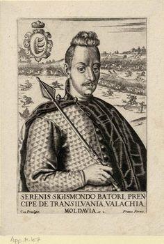Zsigmond Báthory, prince of Transylvania (1572-1613), engraving