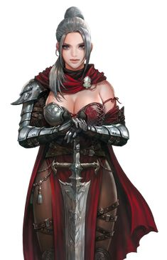 If you are interested in drawing a beautiful fantasy girl, then I hope this article is going to help you. I want to show you some awesome ideas for how to draw your fantasy girl. Fantasy Female Warrior, Female Armor, Female Knight, Fantasy Armor, Fantasy Art Women, Dark Fantasy Art, Fantasy Girl, Female Character Concept, Fantasy Character Design