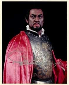 Superstar Spanish tenor, conductor and opera manager, one of the greatest of the 20th century and with one of the largest repertoires in opera history. Signed photo, shown as Otello, 8 x 10 inches, in