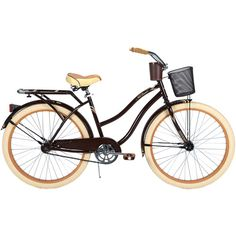 I'd like to get a cruiser bicycle like this.  It has thicker tires to handle bumpy sidewalks, but a more comfortable style so you're not leaning over so much.  Also, the much lower top bar even allows for wearing a skirt!