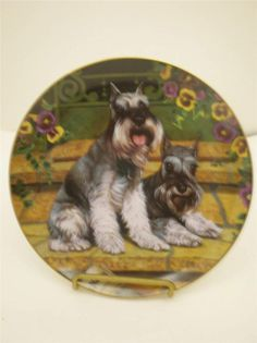 Minature Schnauzer Plate Paper's Here by Christopher Nick