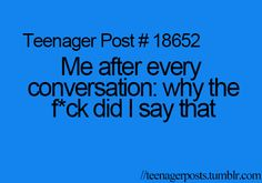 not every conversation... but when i look at mine and my ex boyfriends newest conversations i do...