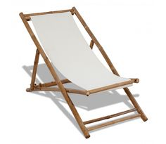 Liegestuhl aus Bambus und Segeltuch