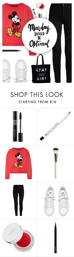 """""""Monday should be optional"""" by buflie ❤ liked on Polyvore featuring Christian Dior, Obsessive Compulsive Cosmetics, Marc Jacobs, Chantecaille, rms beauty, MAC Cosmetics and Ellie Ellie"""