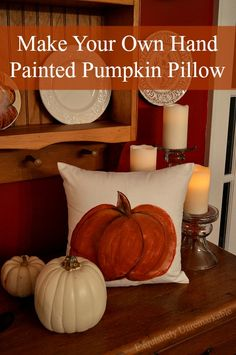 Make Your Own Hand Painted Pumpkin Pillow