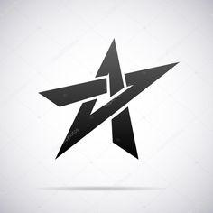 Star Sleeve Tattoo, Cool Car Stickers, Cyberpunk Tattoo, Photoshop Logo, Letter Photography, Logo Shapes, Luxury Logo, Star Logo, Geometric Logo