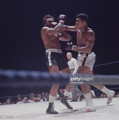 World Heavyweight Title Muhammad Ali in action throwing punch vs Cleveland Williams during fight at Astrodome Houston TX CREDIT James Drake