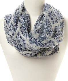 Another great find on #zulily! Navy Geometric Infinity Scarf #zulilyfinds