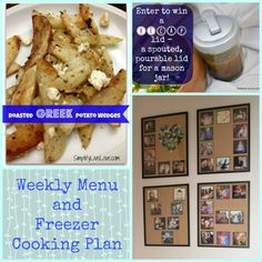 Weekly Menu / Freezer Cooking Plan 3/24 - lots of yummy recipe links and whole food meal ideas