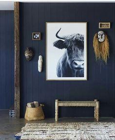 On ose le bleu marine sur les murs