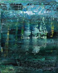 abstract N° 1021 [East Indian hygrophila], painting, oil on canvas, Koen Lybaert #art