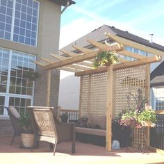 small deck with pergola | Small pergola on top of deck We need this on our deck