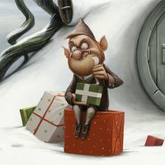 Christmas fairy tale by Anna Kulakovskaja, via Behance Christmas Artwork, Christmas Drawing, Christmas Fairy, Christmas Past, Christmas Pictures, Christmas Holidays, Xmas, Fantasy Words, Elves And Fairies