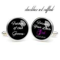 Father of the groom  photo cufflinks wedding gift by etnecklace, $16.99
