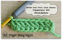Break free from your chains: Chainless Double Crochet Foundation Method - Playin' Hooky Designs