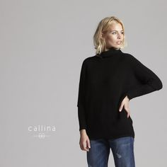 Nadia Pullover Black -Slip into something more comfortable. extremely soft baby alpaca dolman sleeve pullover.