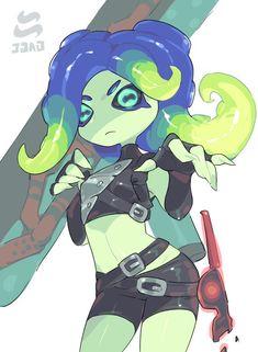 Splatoon 2 Game, Splatoon Squid, Splatoon Comics, Character Concept, Character Art, Character Design, Fanart, Cartoon Art, Art Sketches