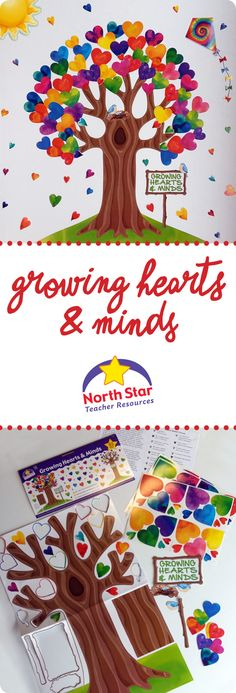 Use NS3086 Growing Hearts and Minds Bulletin Board Set, NS3214 Kites Accents and NS1006 Weather Pop-Out from North Star Teacher Resources to create an easy and impressive display! You can add aesthetic appeal to your home, classrooms, childcare centers, assisted care facilities, nursing homes, hospitals and more. Find us at nstresources.com and facebook.com/NSTResources.