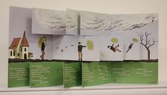 The Story of Flying Robert by Marianne R. Petit (based on the Struwwelpeter by Heinrich Hoffman), 2010  Flag Book, 8 x 5 inches, edition of 50. $125