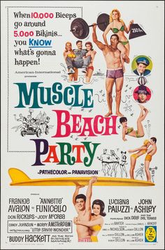 Movie Posters:Comedy, Muscle Beach Party (American International, 1964).