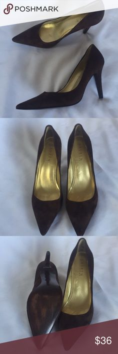 Ralph Lauren brown suede pumps Gorgeous Ralph Lauren Pumps With 3 1/2 inch heels 👠 Perfect for work or with jeans. Only signs of wear or on the bottom worn twice. Ralph Lauren Shoes Heels