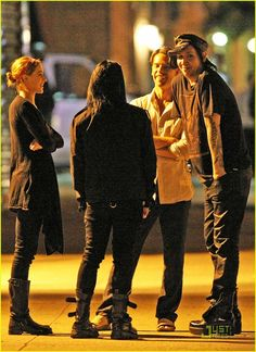 Marilyn Manson Cracks A Smile With Evan Rachel Wood :)