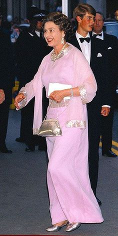 At her mother's birthday celebration in London, Queen Elizabeth II looked beautiful – wearing a pale violet gown with hints of shimmering sequin beading along the cuffs and collar, plus her favorite silver shoes and handbag. Hm The Queen, Royal Queen, Her Majesty The Queen, Save The Queen, Elizabeth Queen, Windsor, Prinz Philip, English Royal Family, Queen Of England