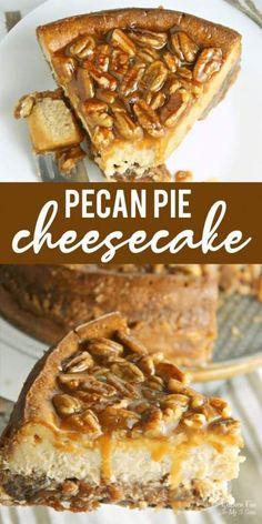 Thanksgiving Desserts Easy, Fall Dessert Recipes, Pie Dessert, Fall Desserts, Desserts With Pecans, Pecan Pies, Pumpkin Pecan Pie, Apple Pies, Pecan Pie Cheesecake