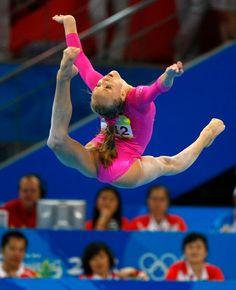 Nastia Liukin on beam at the 2008 Olympics.