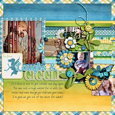 Laughs and Giggles - Scrapbook.com Wendy Schultz onto Scrapbook Layout's.