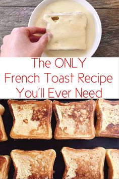 The perfect french toast recipe that is easy to make and cooks perfectly every time. Crisp and crunchy on the outside and soft on the inside! and Drink breakfast french toast Amazingly Perfect French Toast - The Mommy Mouse Clubhouse What's For Breakfast, Breakfast Dishes, Yummy Breakfast Ideas, Vegan Breakfast, Breakfast Smoothies, Breakfast Casserole, Best Breakfast Foods, Toddler Breakfast Ideas, Balanced Breakfast