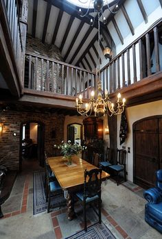 Interior of a castle built by a couple in Surrey without planning permission! It is due to be demolished! Oh Shame!