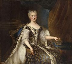 Marie Leczinska, daughter of King Stanislas of Poland. Marie, who married Louis XV in 1725, ceased to have any influence over her husband by 1740. She spent most of her time in the company of a few close friends.