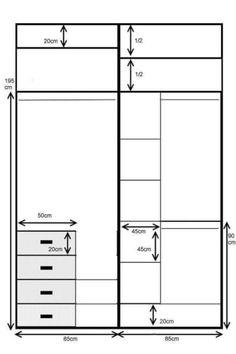 Standard Wardrobe Closet Design Guidelines - Engineering Discoveries Wardrobe Design Bedroom, Wardrobe Cabinets, Bedroom Wardrobe, Wardrobe Closet, Built In Wardrobe, Master Bedroom, Dimension Dressing, Wardrobe Dimensions, Modular Wardrobes