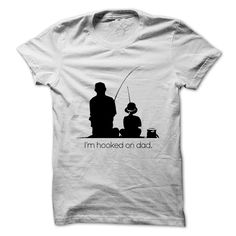 Hooked on Dad Out Fishing T Shirt, Hoodie, Sweatshirt