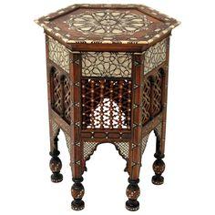A Decorative Large Scale Islamic Table. Syrian Arab Republic. Date 1900.