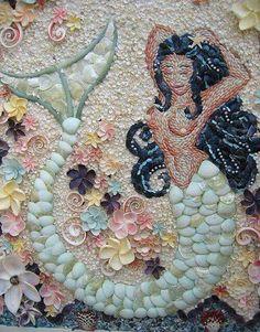 Mermaid from shells.