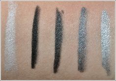 Urban Decay 24/7 Eye Liners: Yeyo, Zero, Oil Slick, Gunmetal, Dime