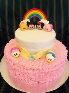Tsum tsum buttercream cake
