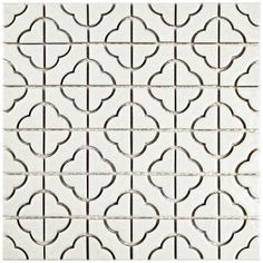 You'll love the Castle 11.75'' x 11.75'' Porcelain Mosaic Tile in White at AllModern - With Great Deals on modern Renovation  products and Free Shipping on most stuff, even the big stuff.