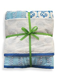Quilted Cotton + Layered Muslin Gift Set- Peacock by 9173613495 at Gilt